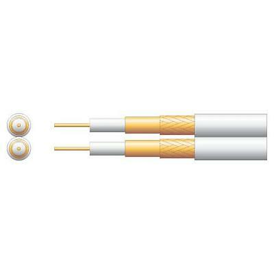Mercury 807.079 Twin Economy 100U DTV/Satellite Coaxial Cable CCA White 100m