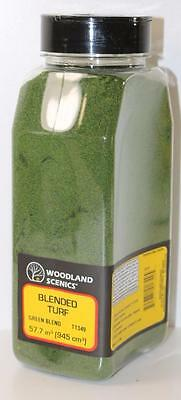 OO HO Scale Woodland Scenics Green Blend Blended Turf + Shaker T1349 FNQHobbys
