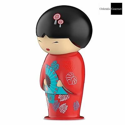 Teafan by Eigenart Hand Painted Ceramic Geisha Doll with Tea Strainer