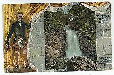 n scotland postcard scottish beauty spots inversnaid waterfall