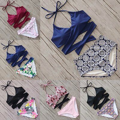 Women Bandage Bikini Set Swimsuit Push-up Padded Swimwear Triangle Bathing Suit