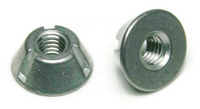 "Tri-Groove Tamper Proof Security Nuts Zamak 5 Zinc 1/4""-20 - QTY 25"