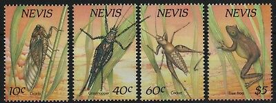 Nevis 1989 - Mi-Nr. 514-517 ** - MNH - Insekten / Insects, Frosch / frog