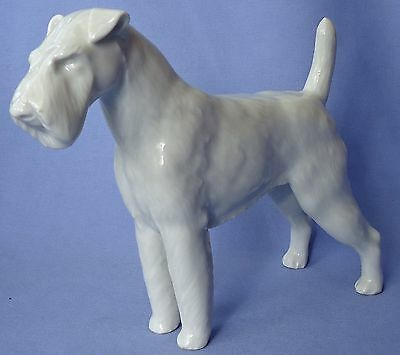 Meissen Airedale Irish Welsh  Fox Terrier Germany 9""
