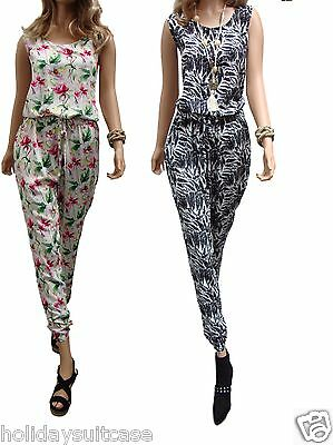 Size 12-18 Ladies womans summer holiday beach generous jumpsuit playsuit