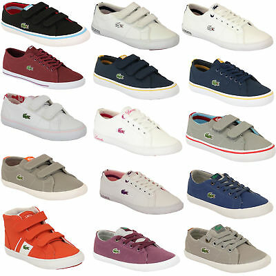 Boys Girls LACOSTE Trainers Kids Chunky Pumps Casual Shoes Lace Up Youth Toddler