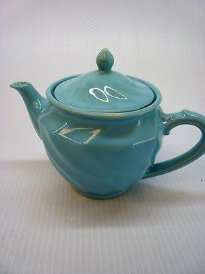 "Vintage 1940's Shawnee Blue Teapot with Lid 7"" Gorgeous  (gs29)"