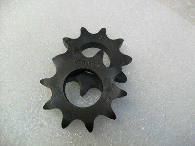 "(Qty 2) Flat / Plate Sprocket 1"" bore 50A10 / # 50 chain 10 Teeth,3/8' thick new"