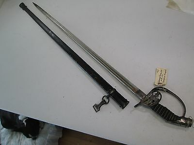 Wwi German Prussen Officers Sword With Scabbard #l119
