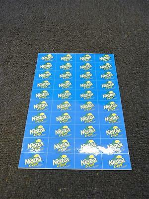 "Nestea Cool Stickers Sheet Of 40 - 1.75"" x 1"" New (pt1402)"