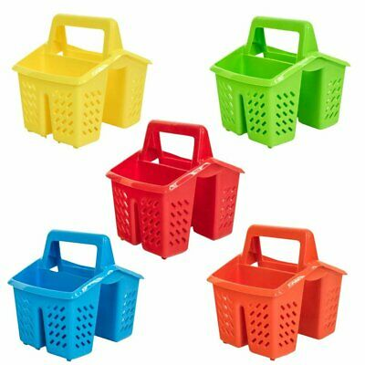 4 Compartment Plastic Sink Tidy Filter Cutlery Drainer Caddy with Handle