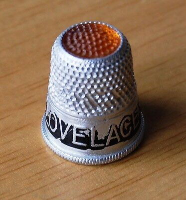Use Dr Lovelace's Soap Vintage Aluminium Advertising Thimble