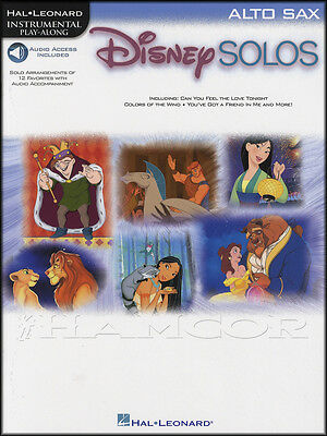 Disney Solos for Alto Sax Saxophone Instrumental Play-Along Sheet Music Book/DLC