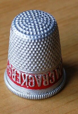 Crawford's Cream Crackers Vintage Aluminium Advertising Thimble