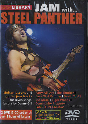 Jam With Steel Panther Lick Library Guitar Tuition DVD 2DVD/CD Set by Danny Gill