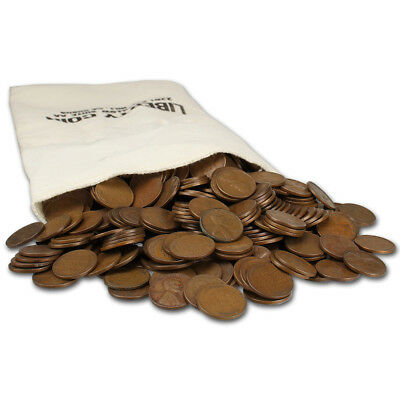 500-pc. US Lincoln Wheat Cents - Bag of 500 - Mixed Dates - Average Circulated