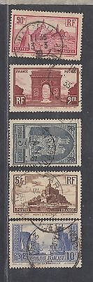 "£1.49  - 5 of a set of 6 ""FRANCE"" VIEWS issues (1929)."