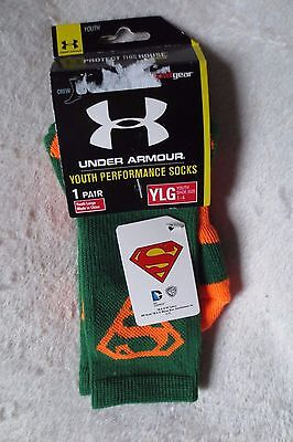 Boy Under Armour Youth Performance Socks 1 Pair Size 1-4 Large New