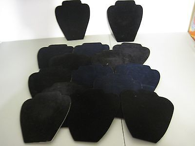 large lot small velvet Necklace Jewelry Display Pendant Organizer Holder Stand