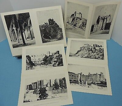 Norman Wilkinson ~ 18 CASTLE prints ~ removed from JULY 1947 National Geographic