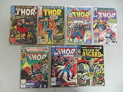 Thor 7 Issue Silver King-Size Annual Comic Lot 2-10 Tales Of Asgard Marvel Kirby