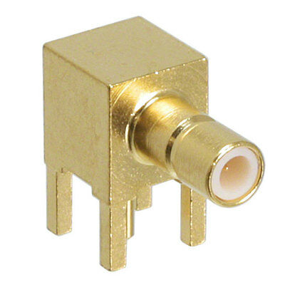 RF Connector - TE Connectivity 50ohm SMB right angle gold plated jack 1060464-1