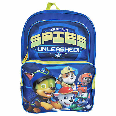 Paw Patrol Top Secret Spies 3D Boys Large Backpack 16""