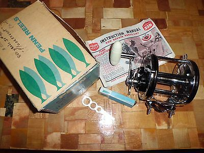 Vintage Penn Senator 6/0 Big Game Conventional Reel made in USA w/ Box & More