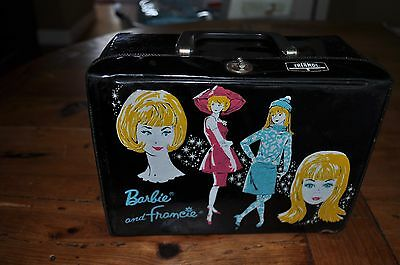 1965 Mattel Barbie And Francie Lunch Box And Thermos