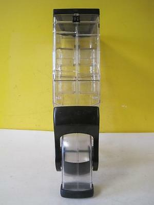 Gravity Coffee Bean Dispenser Bin  Cereal 3 Gallon Clear + Black Base Display