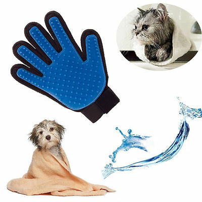 Magic Cleaning Bath Brush Glove Gentle Efficient Pet Massage Grooming Groomer HY