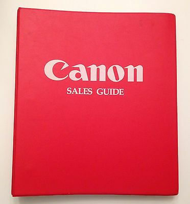 Genuine CANON Camera Store/DEALER Sales Guide Notebook EOS/F1N/T90/EF/FD Lenses