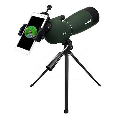 Hot SVBONY 25-75x70mm Angled Zoom Spotting Scope Waterproof+Cell Phone Adapter