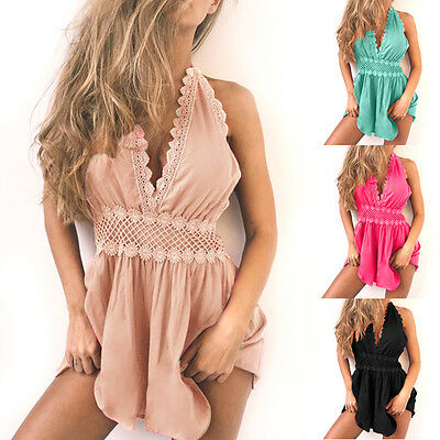 Sexy Women Jumpsuit Loose Romper Summer Clothes Beach Party Dress Shorts Outfit