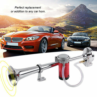 Single Tube Electric Air Horn 150DB 12/24V For Car Motorcycle Vehicle HT