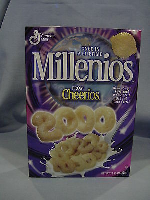 Millenios  General Mills Y2K Cheerios Collectible Cereal Box New Unopened