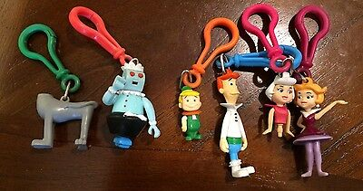 The Jetsons Jack in The box Clips Key Chain Hanna Barbera Toys Lot