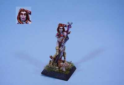Confrontation painted miniature Barbarian Fianna Female