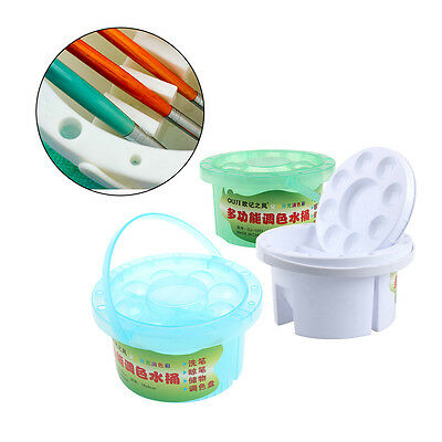 Washing Bucket For Watercolor Brush Multifunction Wash Pen Brush Art Supplies