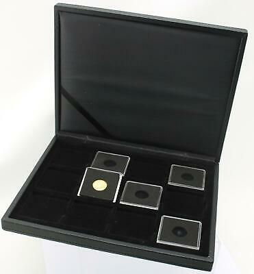 Deluxe Lighthouse Presidio Quadrum case for displaying 12 x 19mm half sovereigns