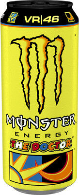 12x 500ml Cans of Valentino Rossi 46 Monster Energy Drink Refreshing Stimulating