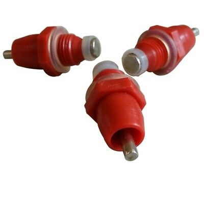 20 PCS Red Poultry Drinker Spring Type Chicken Water Nipple Automatic Dispenser