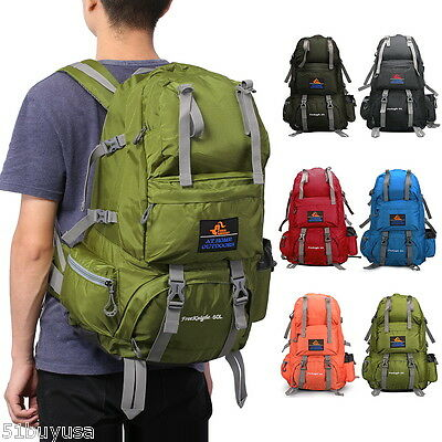 50L Large Waterproof Hiking Camping Bag Travel Backpack Outdoor Luggage Rucksack