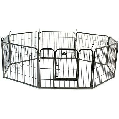 Heavy Duty 8 Panel Puppy Dog Pet Playpen Run Whelping Pen Metal Folding Cage