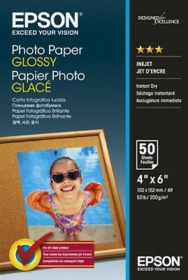 Epson Paper S042547 Glossy Photo Paper 200gsm 50 Sheets 10x15cm 4x6
