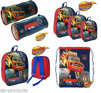 BLAZE Boys Kids Girls School Backpack Gym Lunch Box Bag Rucksack Large Small UK