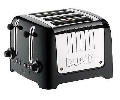Dualit 46205 Lite 4 Slice Toaster Polished Stainless Steel and Black