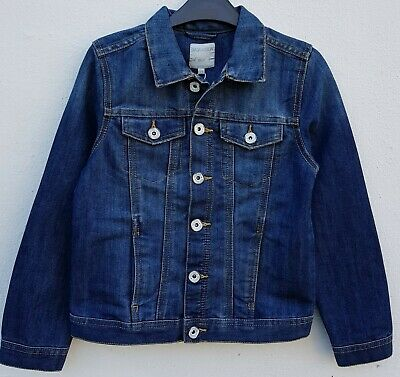Boys` New Piazza Italia Denim Jacket Ages 2 to 14 Mid Blue