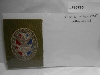 Eagle Scout Patch Type 2 1940-1955 Cotton Thread F10780