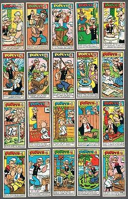 1962 Primrose Confectionery Co. Popeye 3rd Series Tobacco Cards Near Set 49/50